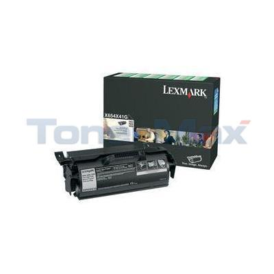 LEXMARK X654 PRINT CARTRIDGE BLACK XHY RP TAA
